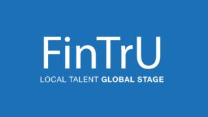 FinTrU Logo LTGS - Blue Background (5778x3258)
